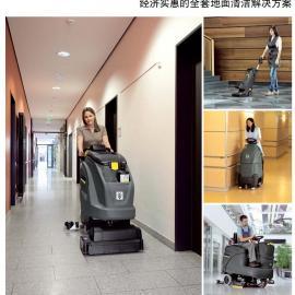 德国手推式洗地吸干机 凯驰洗地机 进口洗地机