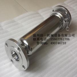 温州产DN50法兰连接不锈钢管道过滤器,法兰直通管道过滤器
