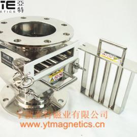 圆形法兰除铁器,管道除铁器,粉料磁性分离器,抽屉除铁器,干粉除铁