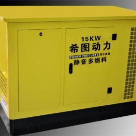 15KW燃气汽油发电机|15KW天然气发电机