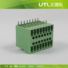 尤提乐MB1.5H/V3.81 双排弯针 插拔式接线端子