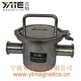 卡箍型管道除铁器,快卡浆料过滤器,磁棒过滤器,磁性过滤器,磁棒