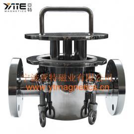 高磁力管道除铁器,风送物料除铁设备,磁棒过滤器,磁性过滤器