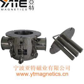 不锈钢磁棒过滤器,流体管道除铁器,磁性过滤器,磁力棒,强磁棒