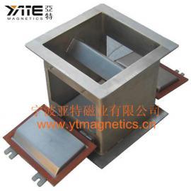 磁板,磁性管道除铁器,磁板管道除铁器,磁板箱,磁平板,强磁板