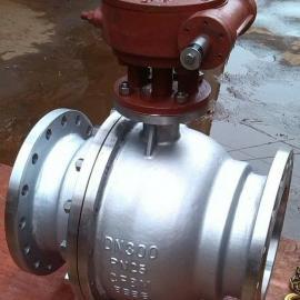 Q347F-25P不锈钢蜗轮固定式球阀