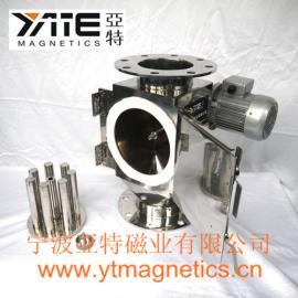 旋转式管道除铁器,旋转式格栅除铁器,正极材料除铁器,磁格栅