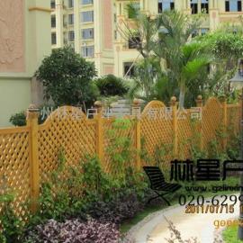 户外实木护栏,花园花坛园林景观栅栏7006
