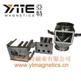 易清洗粉料除铁器,磁性过滤器,磁棒过滤器,磁力架,磁格栅,箱式磁�