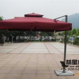 户外遮阳伞,全铝架进口伞布罗马伞6007