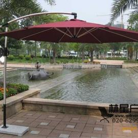 户外遮阳伞,全铝架进口伞布香蕉伞6008