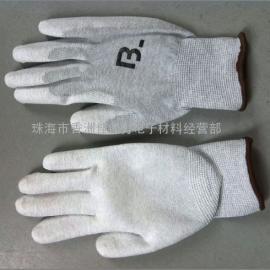 防静电碳纤维PU涂掌手套