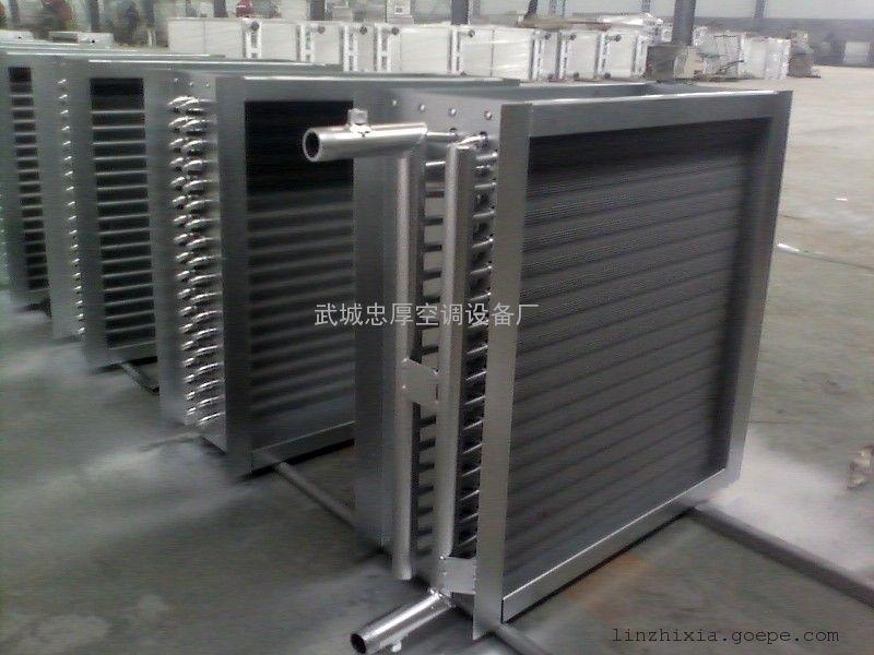 定做空调箱表冷器 冷却塔铜管铝片盘管-德州润泽空调优质厂家