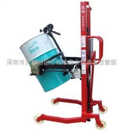 深圳手动油桶装卸车,手动手翻油桶倒料机