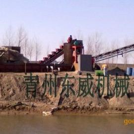 便于运输的拆装式陕西多砾石河道二次水洗挖沙船