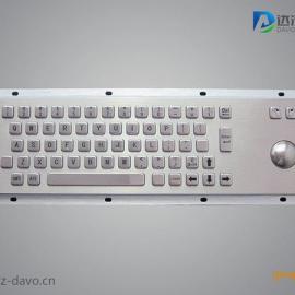 嵌入式不锈钢全键盘,工业键盘,金属轨迹球键盘