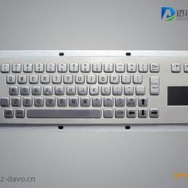 嵌入式军工不锈钢键盘,触摸一体全键盘