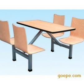 肯德基餐桌椅/成都食堂快餐桌椅/小吃店餐桌椅/连体餐桌椅