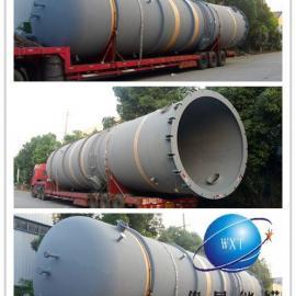 100立方立式钢衬塑储罐,5%醋酸储罐,化工耐腐蚀储罐