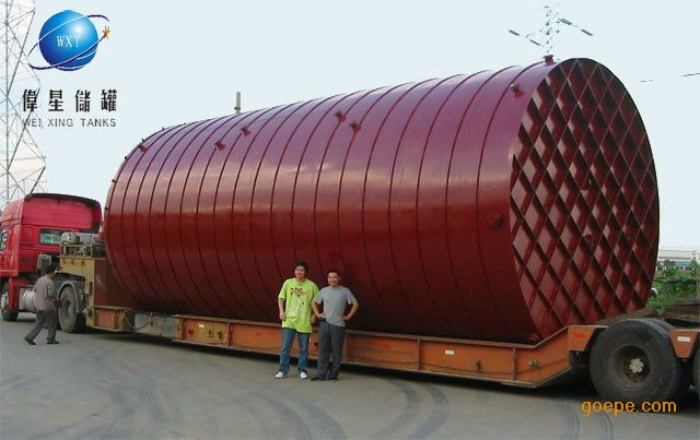 按客户定制车载式运输罐卧式钢衬塑储罐