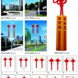 供应发光如意中国结路灯 中国结庭院灯 中国结景观灯