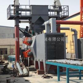 辊道式抛丸机适用于金属工程机械桥梁制造业的去应力及表面除锈