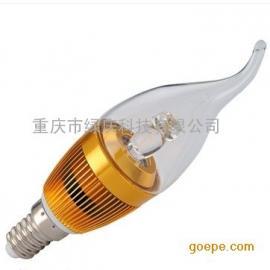 LED水晶蜡烛灯 重庆厂家直销 家用天花射灯 E14灯头