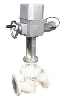 zrsf46电动衬氟调节阀图片