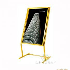 广州酒店用品厂钛金指示牌60*80*126不锈钢制品批发直销