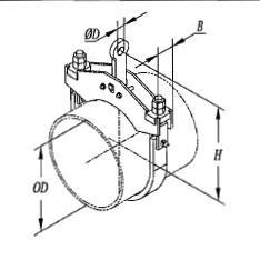 C形钢带管夹104