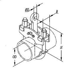 C形螺杆管夹103