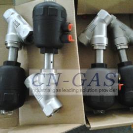 不锈钢气动角座阀丨气体纯化装置专用气动阀