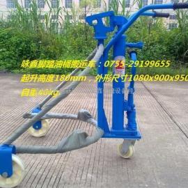 YTC0.3A深圳脚踏液压油桶搬运车