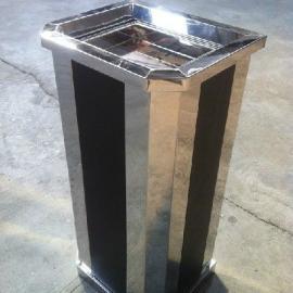 西安室内不锈钢垃圾桶批发厂家―榆林来图定做楼层钛金烟灰桶