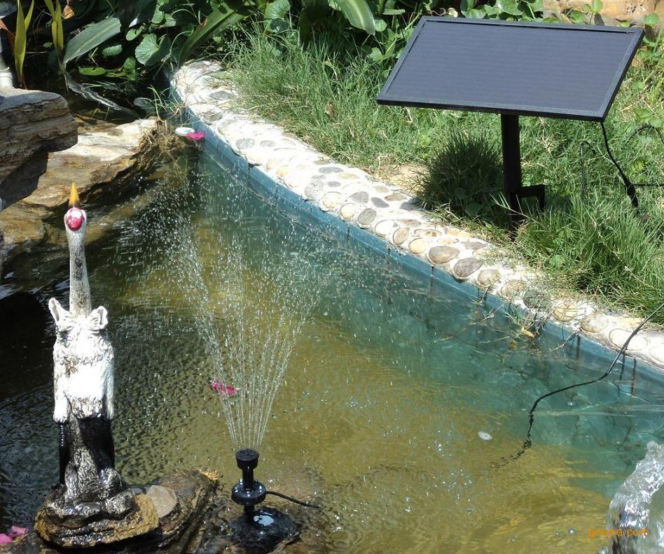 花园太阳能喷泉,带电池太阳能喷泉