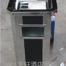 武汉厂家定做不锈钢垃圾桶 襄樊室内带烟灰缸烟灰桶批发商