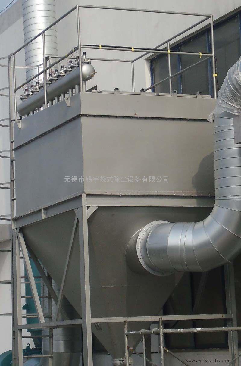 沉降室+布袋组合除尘器