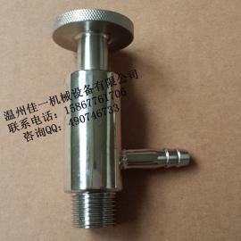 温州产卫生级不锈钢取样阀(DN15外螺纹取样阀、采样阀)