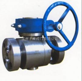 美标高压蜗轮固定式球阀,Q347F/H-150LB
