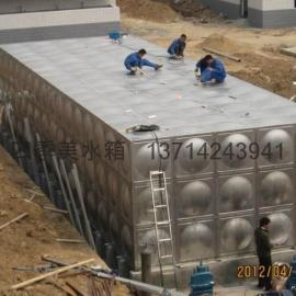 大型不锈钢水箱制作安装--四季美水箱制作