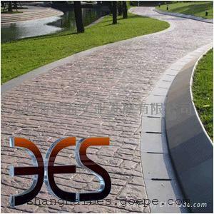 上海拜石压膜地坪/压膜混凝土/彩色压模地坪