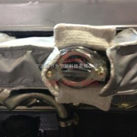 卡特柴油发动机排气管保温套,卡特发动机保温套