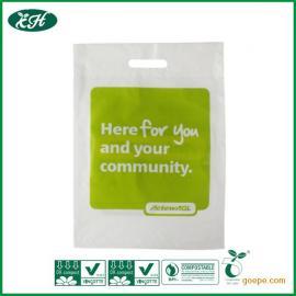 厂家专业生产全生物可降解购物袋、服装袋、全生物降解塑料袋