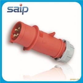 厂家直销 工业电源插头 四孔插头 防水插头 16A接插装置