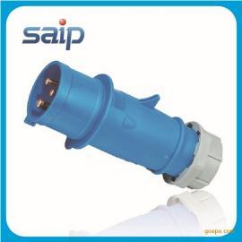 厂家直销3P/16A防水工业插头 塑料插头  公母插头