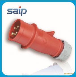 厂家直销 4P  工业电源插头 防水工业插头 欧式插