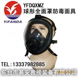 全面具,过滤式防毒面罩,YFDQXMZ球形全面罩防毒面具