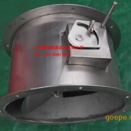 圆形不锈钢风阀 欧姆调节阀 风量调节阀 风管调节阀