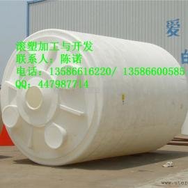 30吨圆型平底立式PE水箱|PE水塔|君益塑业容器