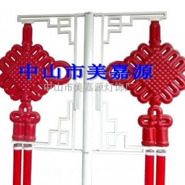 路灯杆装饰中国结灯,LED压克力中国结,如意中国结